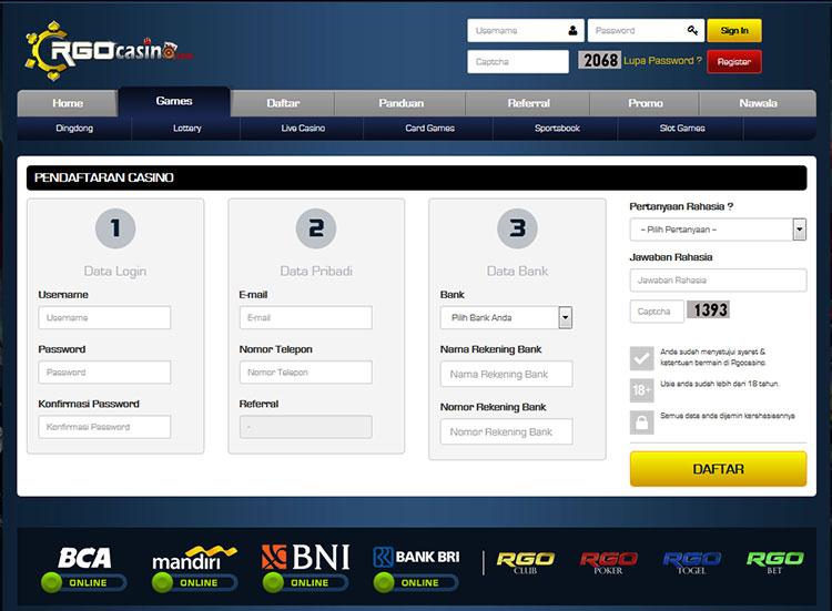 Cara Mudah Melakukan Pendaftaran di Situs RGOcasino.com